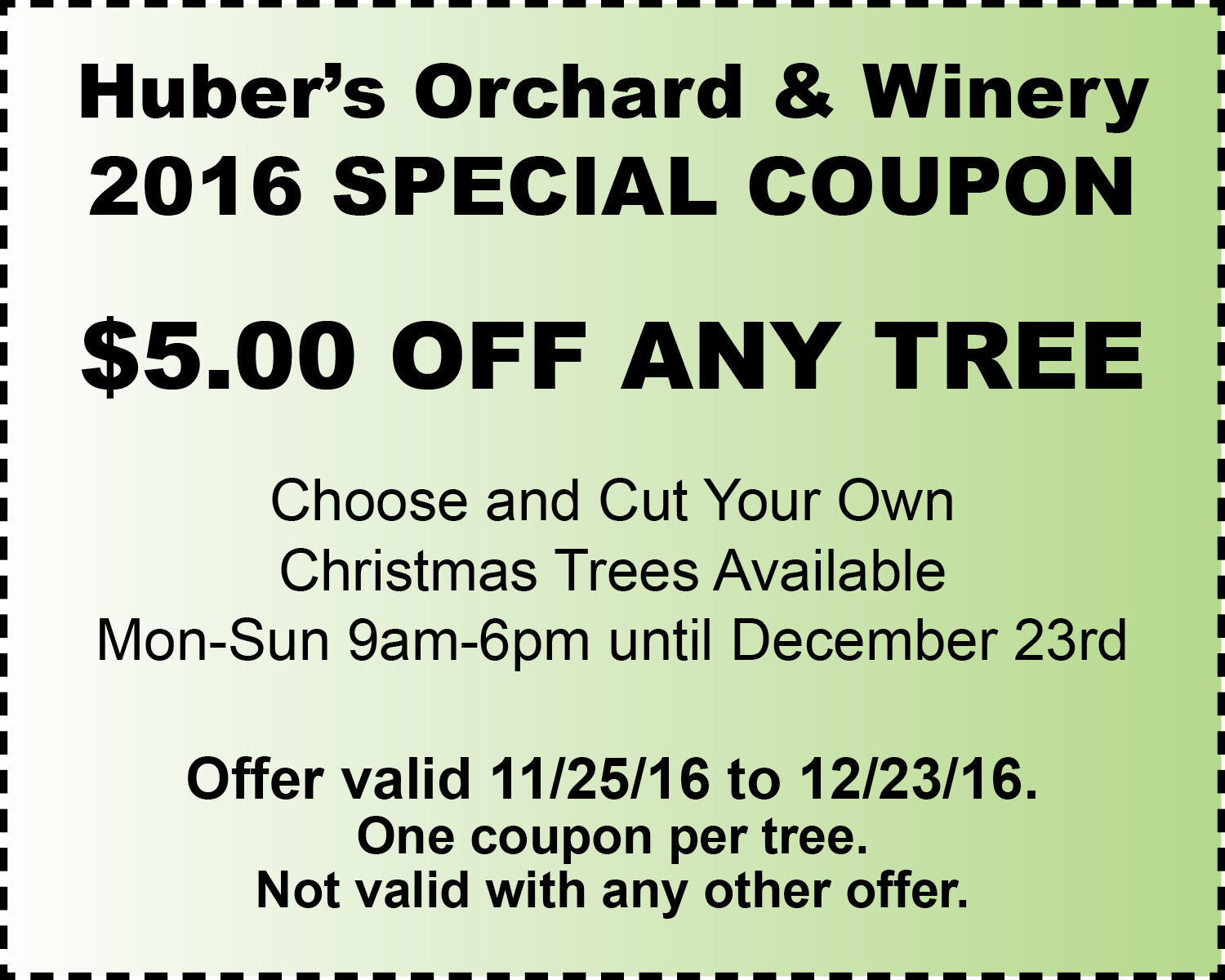 Christmas Treepe Coupon